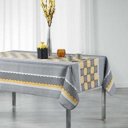 Nappe rectangle 150 x 240 cm polyester imprime amarella Gris