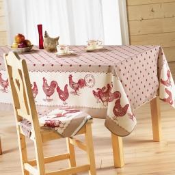 Nappe rectangle 150 x 240 cm polyester imprime belle epoque Rouge
