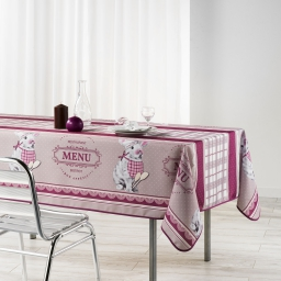 nappe rectangle 150 x 240 cm polyester imprime brasserie