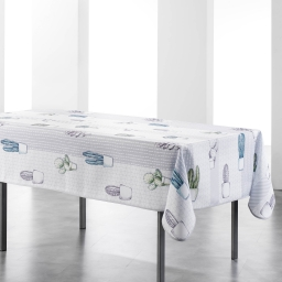 nappe rectangle 150 x 240 cm polyester imprime cactae