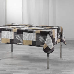 Nappe rectangle 150 x 240 cm polyester imprime caloum Noir