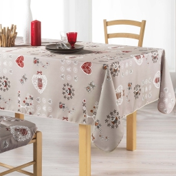Nappe rectangle 150 x 240 cm polyester imprime chouetti Lin
