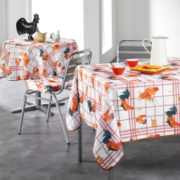nappe rectangle 150 x 240 cm polyester imprime cocorico