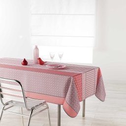 Nappe rectangle 150 x 240 cm polyester imprime damara Rose