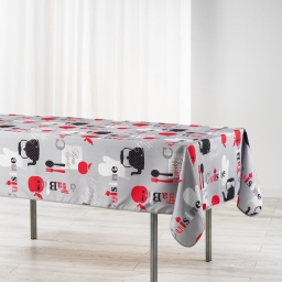 nappe rectangle 150 x 240 cm polyester imprime epicurien