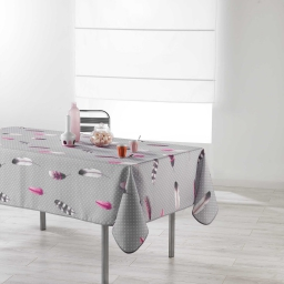 Nappe rectangle 150 x 240 cm polyester imprime evanescence Gris