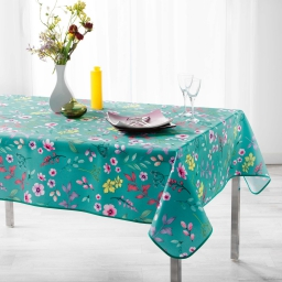 Nappe rectangle 150 x 240 cm polyester imprime freshy Menthe