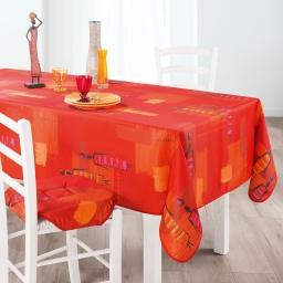 Nappe rectangle 150 x 240 cm polyester imprime jaya Cuivre
