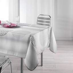 Nappe rectangle 150 x 240 cm polyester imprime kosmo Gris