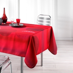 Nappe rectangle 150 x 240 cm polyester imprime kosmo Rouge