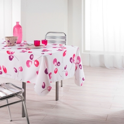 Nappe rectangle 150 x 240 cm polyester imprime mixi Rose