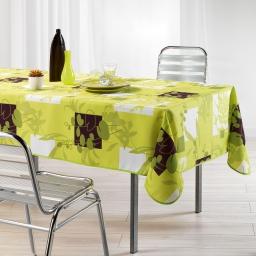 Nappe rectangle 150 x 240 cm polyester imprime nenuphar Anis