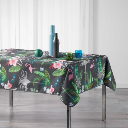 Nappe rectangle 150 x 240 cm polyester imprime paradizio Anthracite