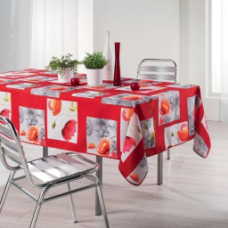 Nappe rectangle 150 x 240 cm polyester imprime polly Rouge