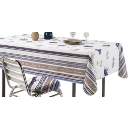 nappe rectangle 150 x 240 cm polyester imprime seaside