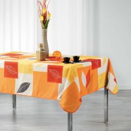 Nappe rectangle 150 x 240 cm polyester imprime soria Orange