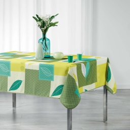 Nappe rectangle 150 x 240 cm polyester imprime soria Vert