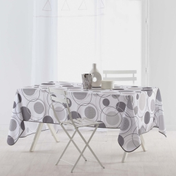 nappe rectangle 150 x 240 cm polyester imprime toupie