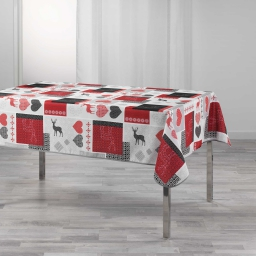 Nappe rectangle 150 x 240 cm polyester imprime valtho Rouge