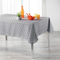 Nappe rectangle 150 x 240 cm polyester imprime victory Gris
