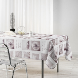 Nappe rectangle 150 x 240 cm polyester photoprint clarte Blanc