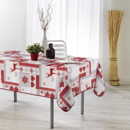 nappe rectangle 150 x 300 cm fils coupes imprime winter love
