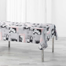 Nappe rectangle 150 x 300 cm polyester imprime cotina Gris