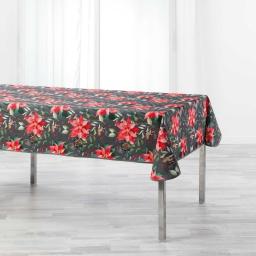 Nappe rectangle 150 x 300 cm polyester imprime la rosiere Gris