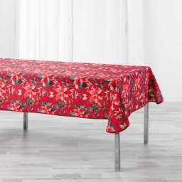 Nappe rectangle 150 x 300 cm polyester imprime la rosiere Rouge
