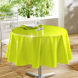 Nappe ronde (0) 160 cm pvc uni laque glossy Anis