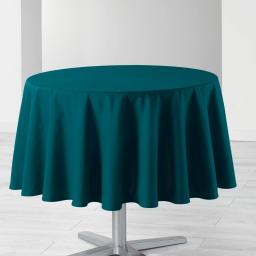 Nappe ronde (0) 170 cm coton uni ideale Bleu