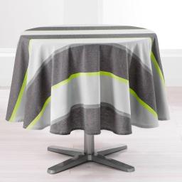 Nappe ronde (0) 180 cm coton jazzy Vert