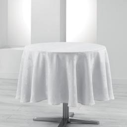 Nappe ronde (0) 180 cm jacquard damasse calice Blanc