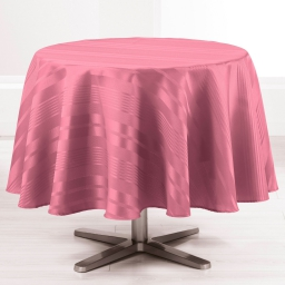 Nappe ronde (0) 180 cm jacquard damasse smart Rose