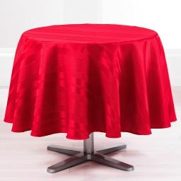Nappe ronde (0) 180 cm jacquard damasse smart Rouge