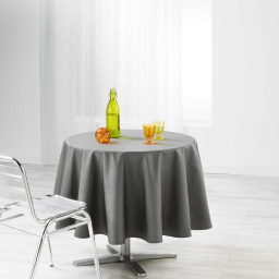 Nappe ronde (0) 180 cm jacquard enduit liany Anthracite