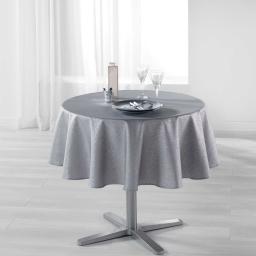 Nappe ronde (0) 180 cm polyester imprime argent palacio Gris