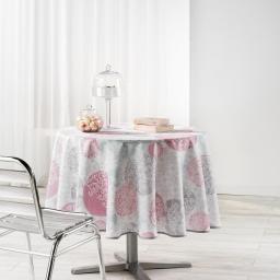 Nappe ronde (0) 180 cm polyester imprime barbara Poudre