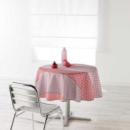 Nappe ronde (0) 180 cm polyester imprime damara Rose