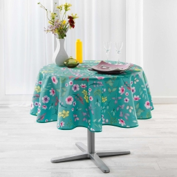Nappe ronde (0) 180 cm polyester imprime freshy Menthe