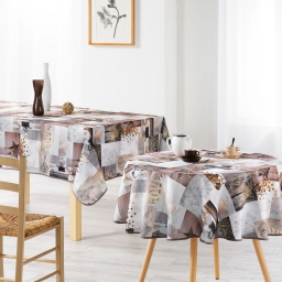 nappe ronde (0) 180 cm polyester photoprint etoile givree