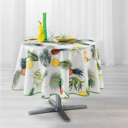 nappe ronde (0) 180 cm polyester photoprint fresh ananas