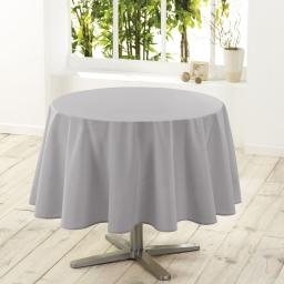 Nappe ronde (0) 180 cm polyester uni essentiel Gris