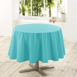 Nappe ronde (0) 180 cm polyester uni essentiel Menthe
