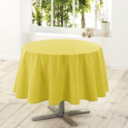 Nappe ronde (0) 180 cm polyester uni essentiel Tilleul