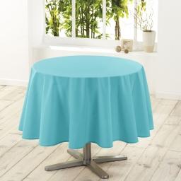 Nappe ronde (0) 180 cm polyester uni essentiel Turquoise