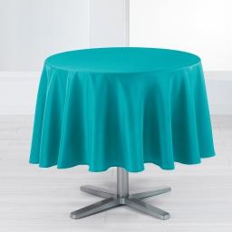 Nappe ronde (0) 180 cm polyester uni punchy Bleu