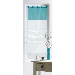 New store droit a passants 45 x 180 cm voile bicolore azur Blanc/Bleu