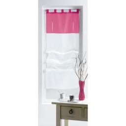 New store droit a passants 45 x 180 cm voile bicolore azur Blanc/Rose
