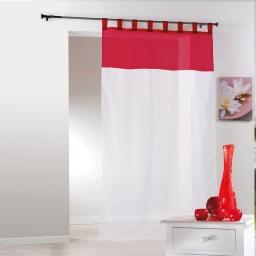 P new pan. pas 140x240 voile bic. azur  222216 Blanc/Rouge